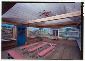 View of the Clementine Hunter Murals. | Credit: Historic American Building Survey