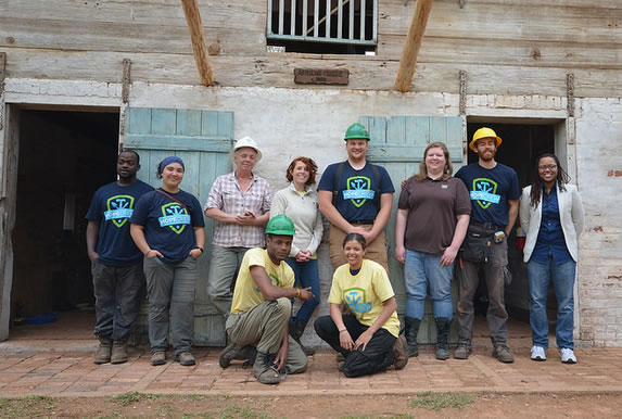 The African House HOPE Crew Team. | Photo credit: Sarah Jackson, National Center for Preservation Training and Technology