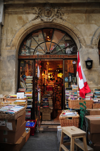 "The Abbey Bookshop in Paris's Latin Quarter. In defending the Vital' Quartier program, Mayor Bertrand Delanoë insisted any attempt to resemble big ""Angle-Saxon"" cities would be disastrous: ""It would be madness. It would be an insult to our soul, an insult to our identity but also to our economic interests."" 