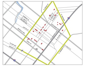 Map of Iberville Offsites. | Credit: Redmellon Restoration & Development