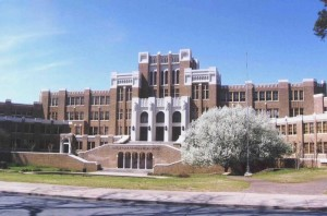 Front facade of Central High School. | Credit: National Park Service
