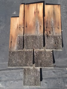 Shingles from east elevation between dormers at the Lyndhurst bowling alley. | Credit: National Trust for Historic Preservation