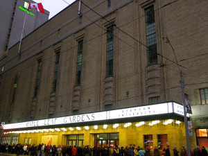 The 1931 Maple Leaf Gardens, a National Historic Site of Canada, was home to the Toronto Maple Leafs hockey team until 1999. Following its closure there were numerous discussions about demolishing the Gardens, but in 2009 a proposal for continued use was made. In 2012, the Gardens reopened under a new name, the Mattamy Athletic Centre, housing Ryerson University's new athletic facility and the 85,000-square foot Loblaws grocery store. | Credit: JasonParis via Flickr