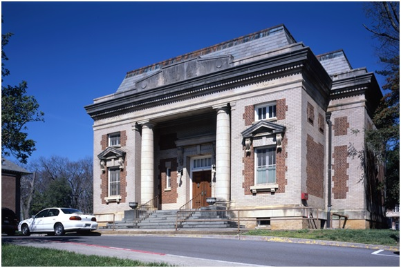 The 1904 Carnegie Library is 1 of 35 contributing resources to the National Historic Landmark Mountain Branch, National Home for Disabled Volunteer Soldiers, now the James H. Quillen Veterans Affairs Medical Center, Johnson City, TN.  | Credit: Historic American Building Survey