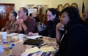 C.S. Brown Board Members (l-r) Berna Stephens, Jochen Kunstler, Caroline Stephenson and Mary Harrell Sessions.| Credit: Marvin T. Jones