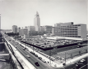 Wide angle view of the Parker Center in the late 1950s. | Credit: Alan Miyatake, Toyo Miyatake Studio