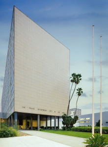 Parker Center, exterior view. | Credit: Hunter Kerhart/L.A. Conservancy