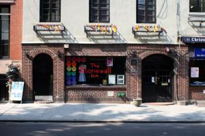 LGBTQ Heritage: The Stonewall Inn, Christopher Street in Greenwich Village, Manhattan, 2008. | Photo by Johannes Jordan, via Wikimedia Commons.
