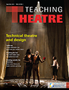 Recent cover of Teaching Theatre.