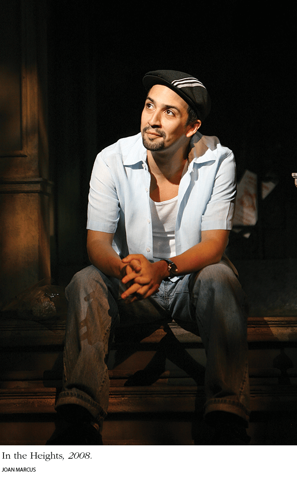 Photo: Miranda in In the Heights, 2008. Photo credit: Joan Marcus.