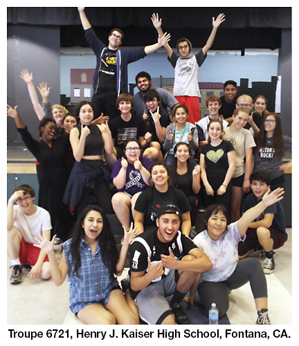 Troupe 6721, Henry J. Kaiser High School, Fontana, California