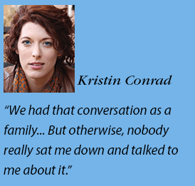 Kristin Conrad headshot and quote