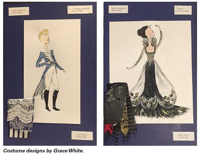 Costume designs by Grace White.
