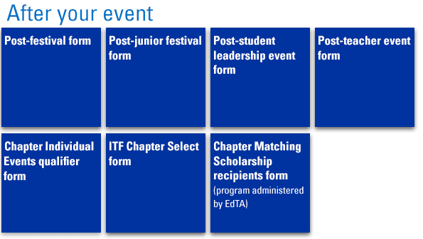 Graphic: Chapter events. Post-event resources.