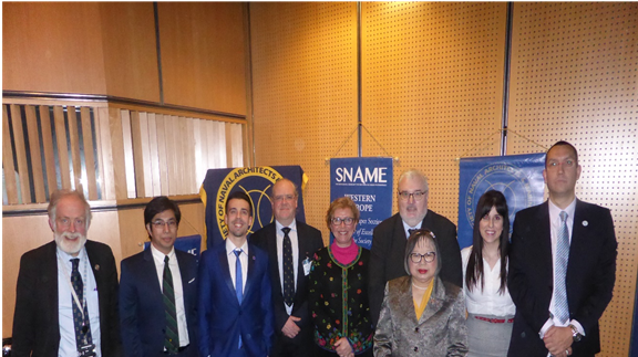 with SNAME President