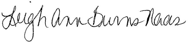 Leigh Ann Burns Naas Signature
