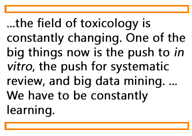 Quote about the evolving nature of toxicology