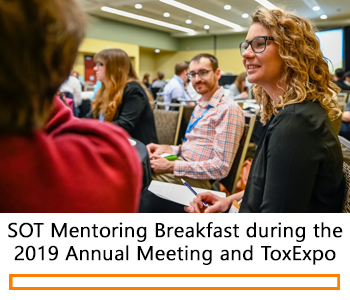Participants during the 2019 SOT Mentoring Breakfast