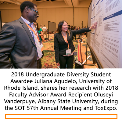 Undergraduate Poster Presentation during the 2018 SOT Annual Meeting