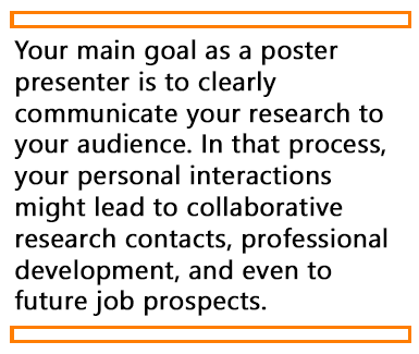 Quote about the main goal of poster presentations