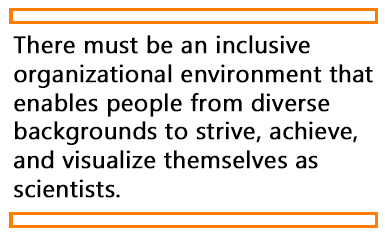 A quote from the article about the importance of inclusiveness in organizations.