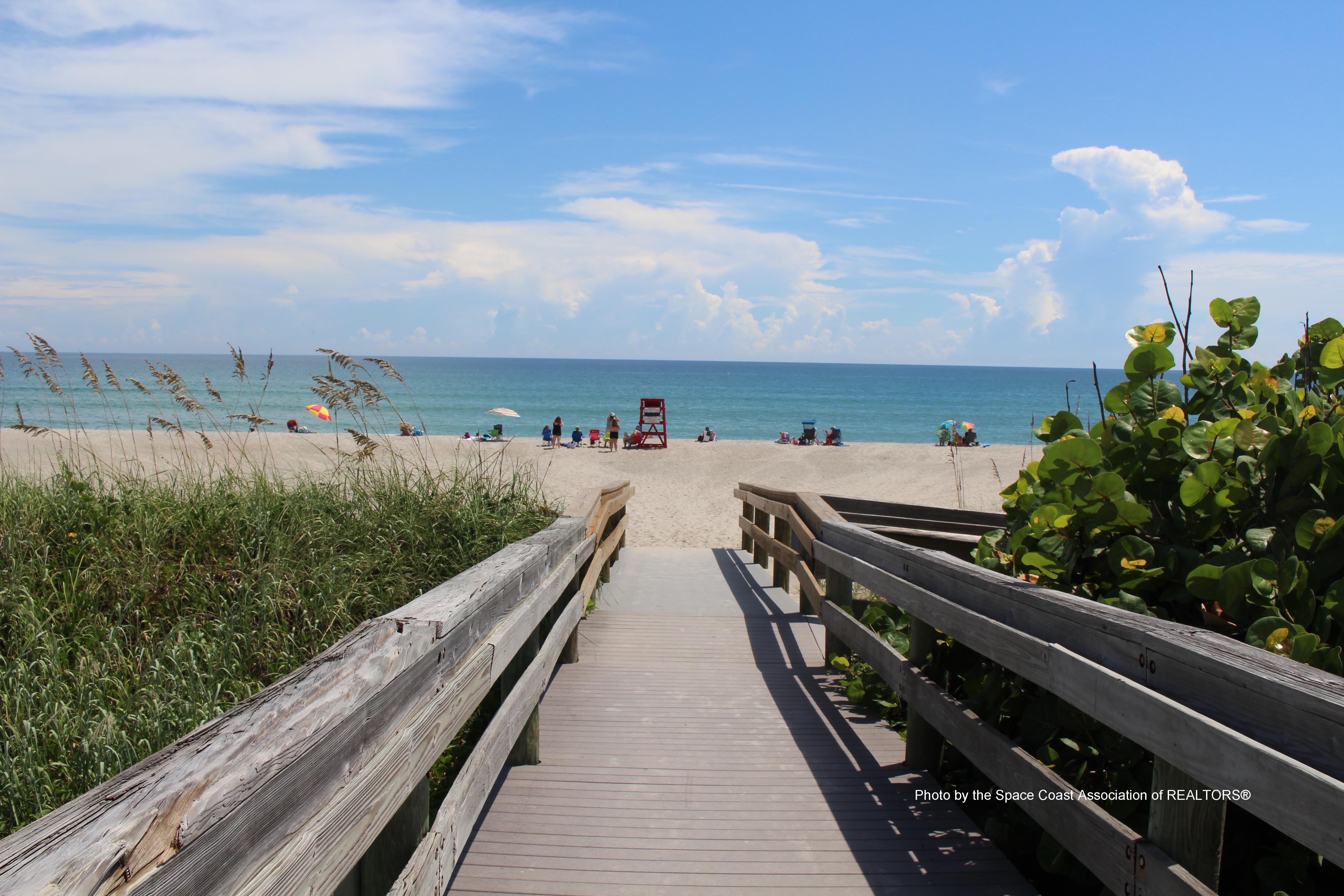 Indialantic, Florida beach walkway