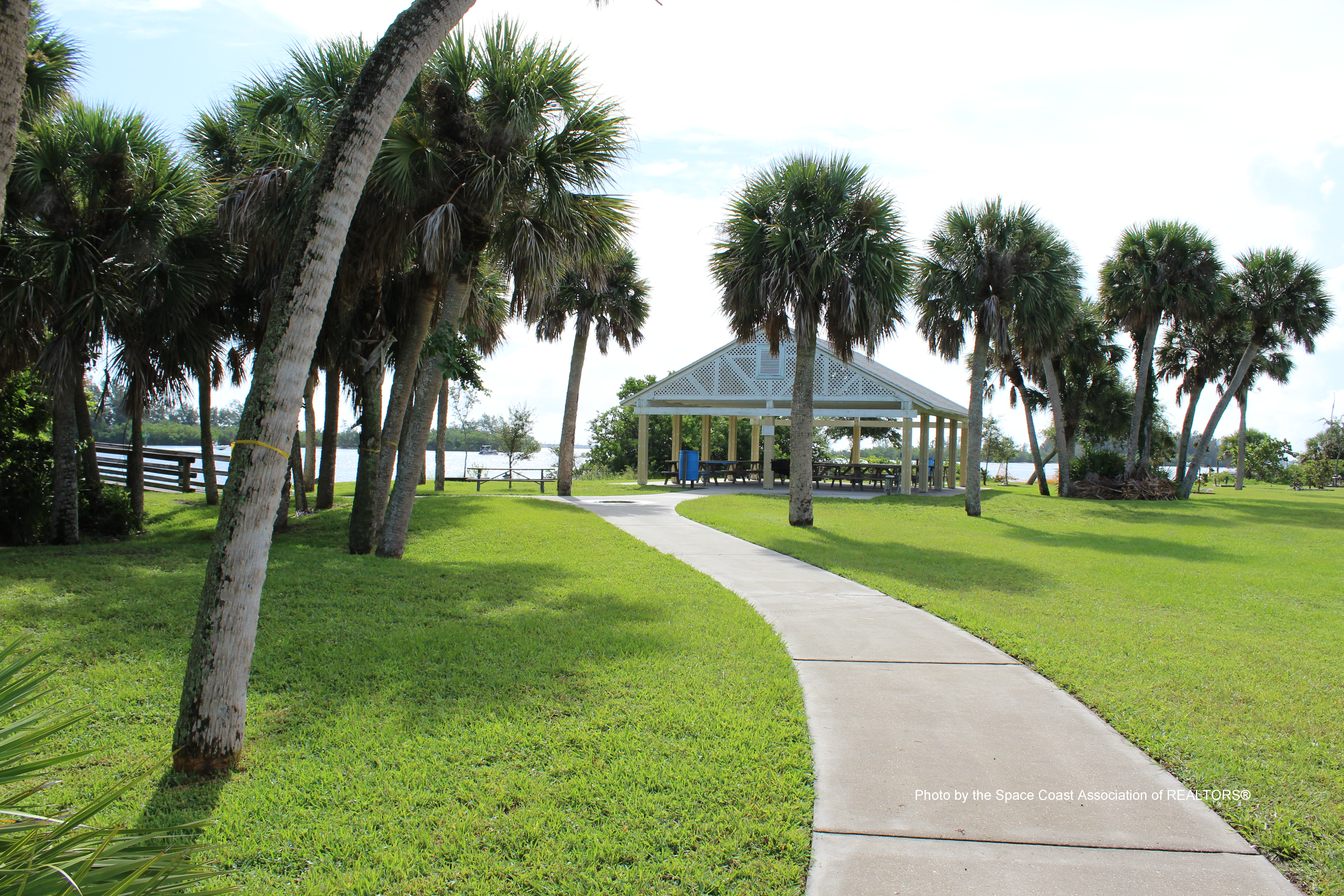 Pathway to pavilion at park in Grant-Valkaria, Florida
