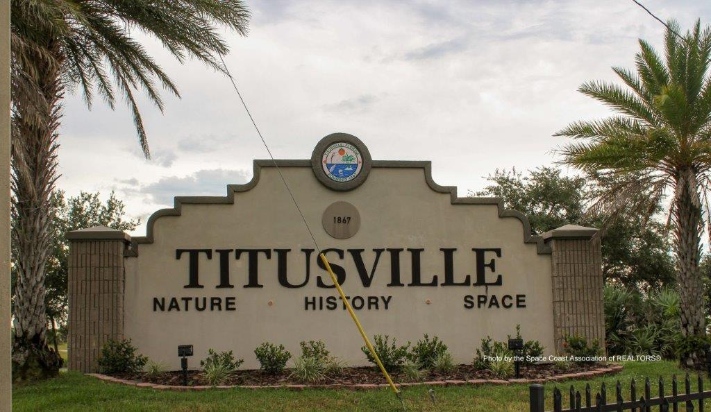 Titusville, Florida sign