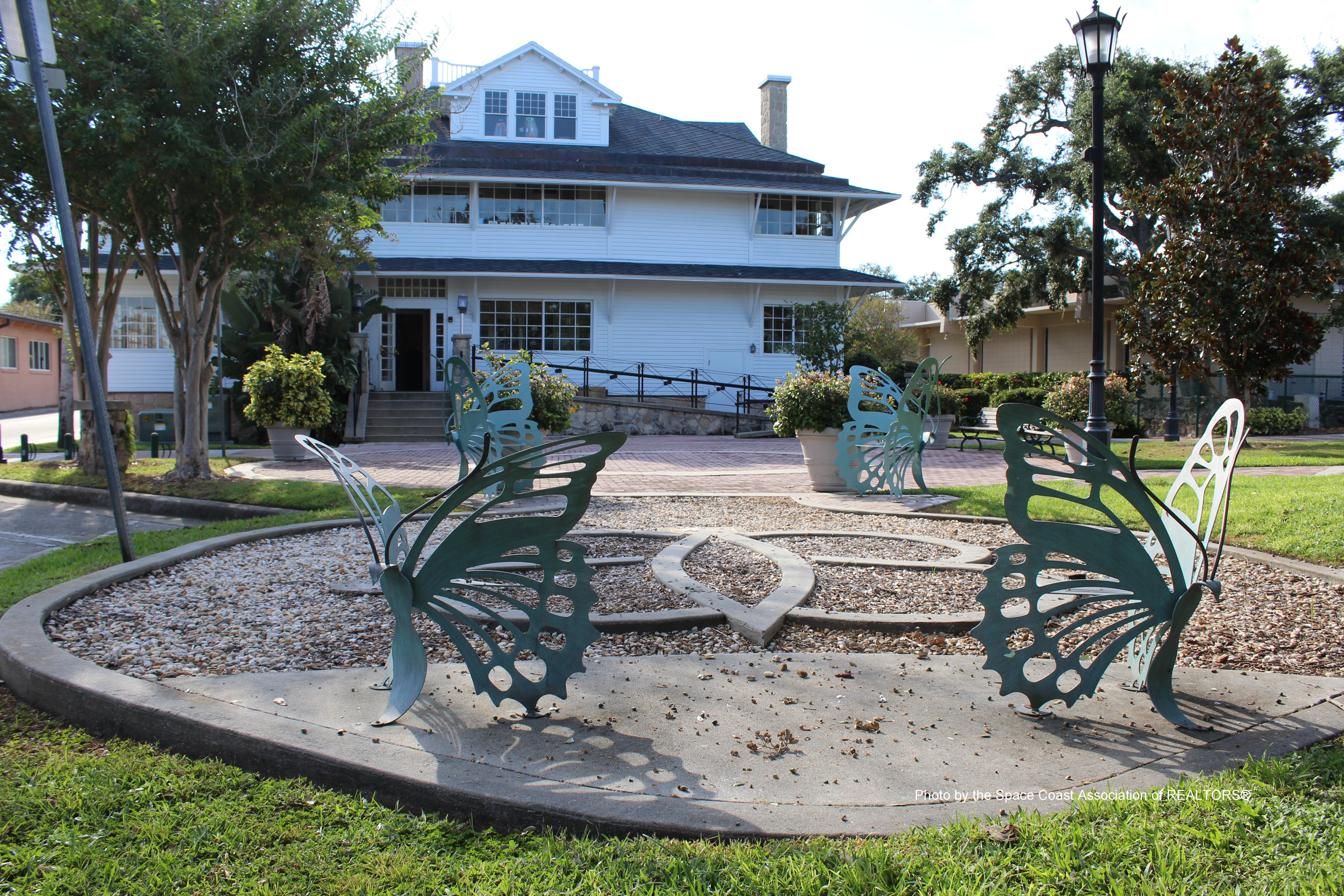 Back of Porche House Cocoa Village, Florida