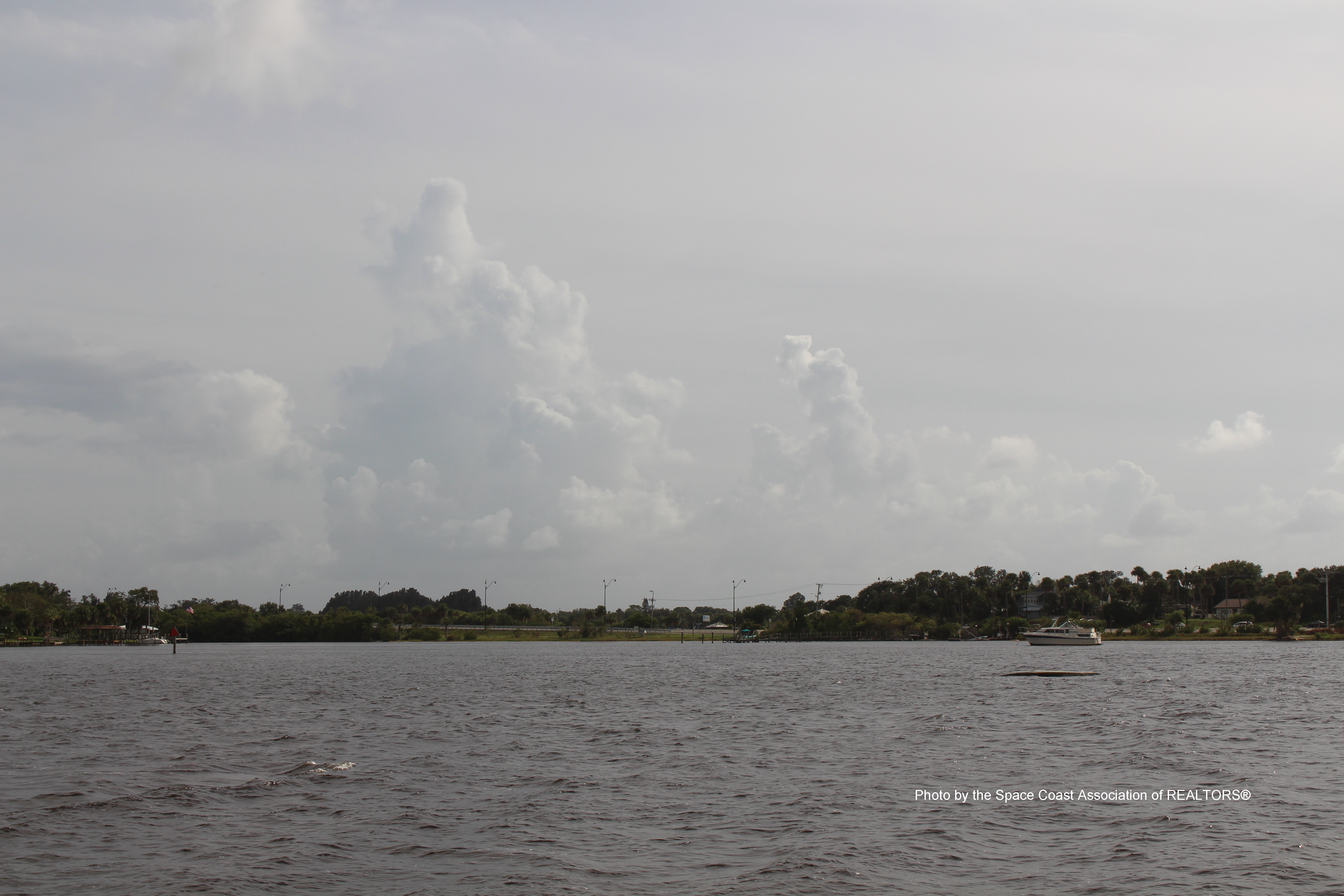 Boat in water in Palm Bay, Florida