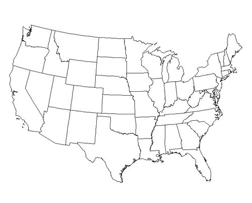 Map view of United States