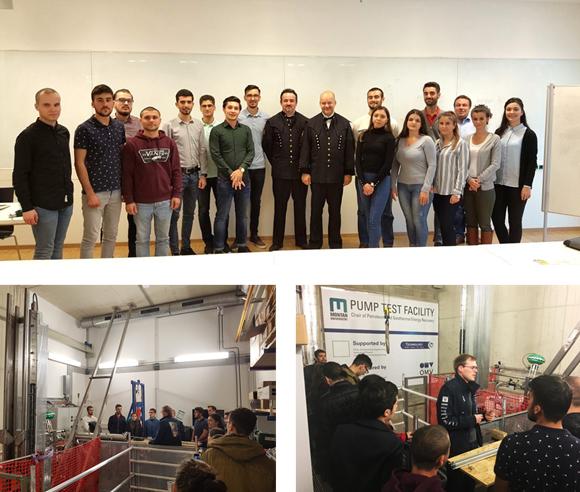 A visit into Montanuniveristät Pump testing facilities