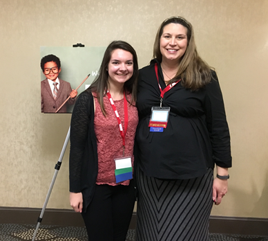 Amber Henry (left) is pictured with Dr. Alicia Brophy-Dick, the President-Elect of the North Carolina Council for Exceptional Children and 2017 conference chair.