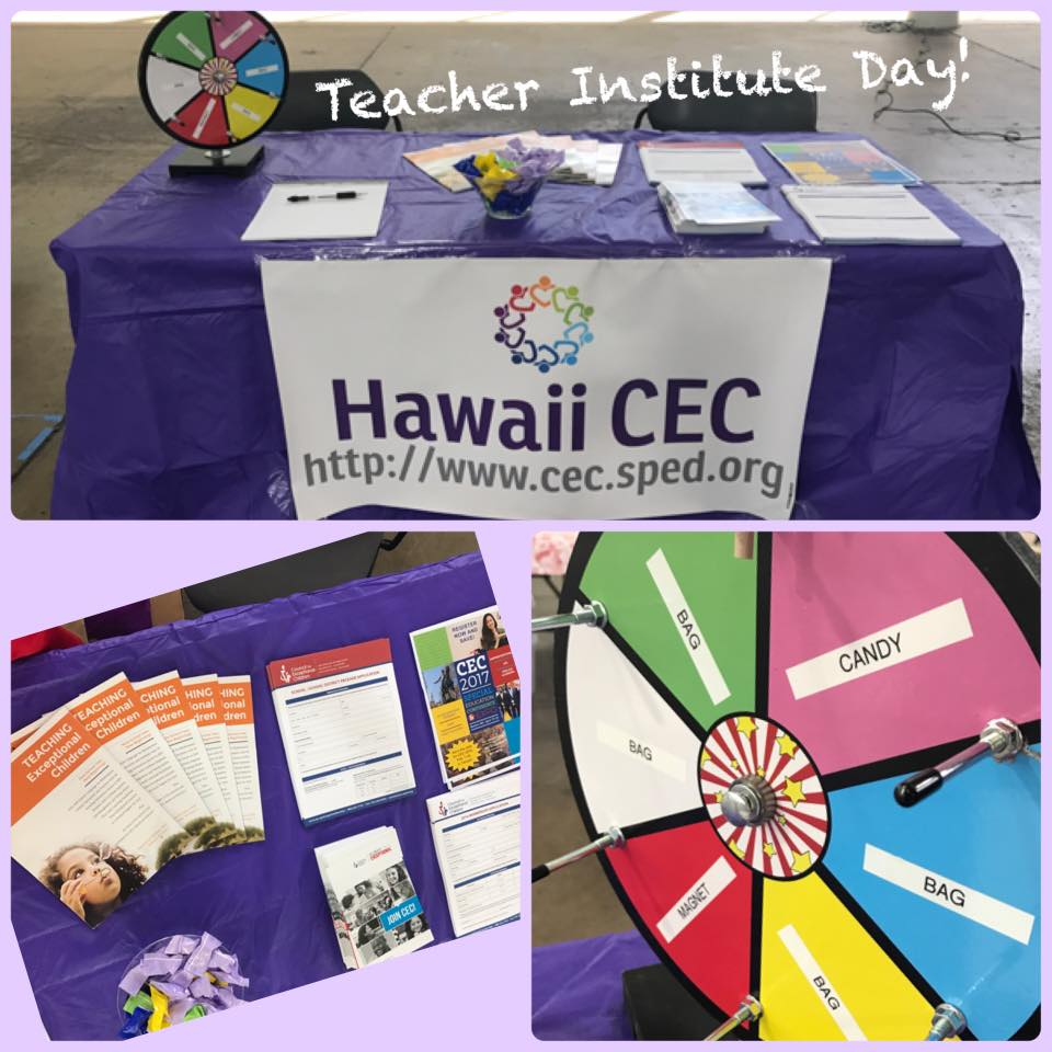 Hawaii CEC table at HSTA Institute Day