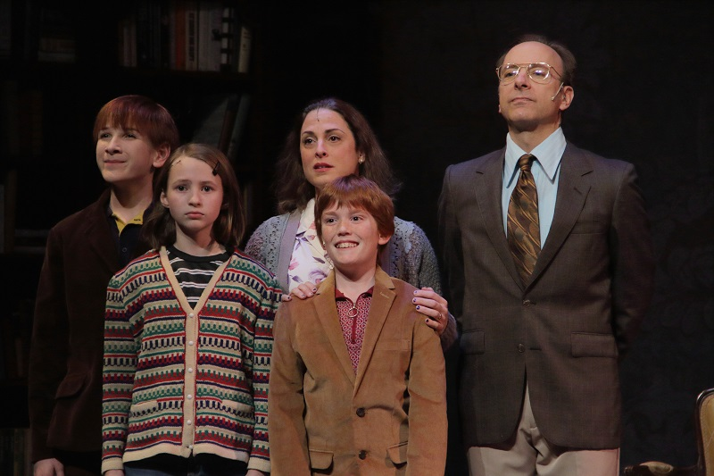 John Post, Caleigh Howell, Jack Wielar, April Post, and Craig Waletzko in Virginia Stage Company's production of FUN HOME. Photo by Samuel W. Flint