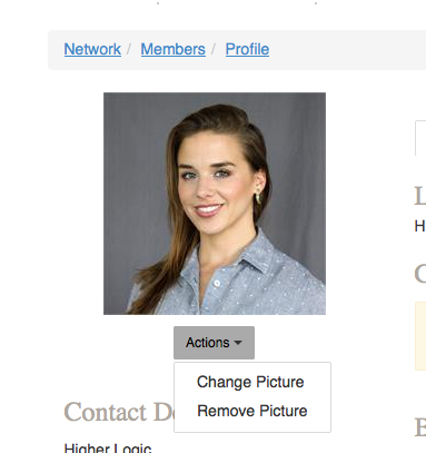 Upload a profile photo without going through LinkedIn