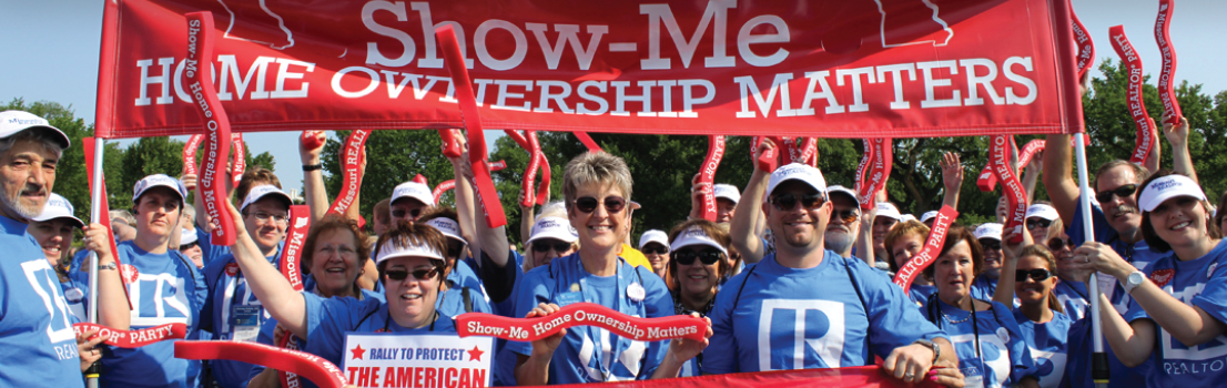 "Missouri REALTORS® proudly participating in the ""Protecting the American Dream"" rally."