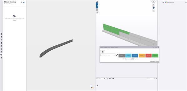 Left: TC Web, no status / Right: TC Desktop, status available