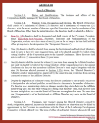 Thumbnail View of a Redline Copy of URMIA's Bylaws