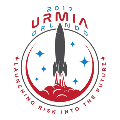 URMIA's 2017 Annual Conference Logo of a rocket blasting off