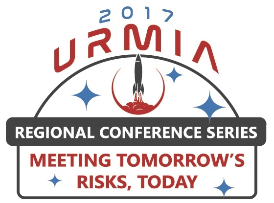 Logo for URMIA's 2017 Regional Conference Series - Rocket Blasting Off