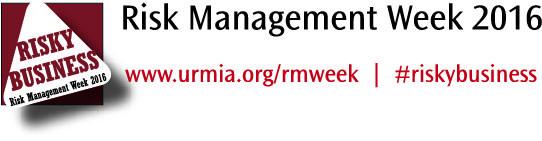 Banner promoting URMIA's Risk Management Week