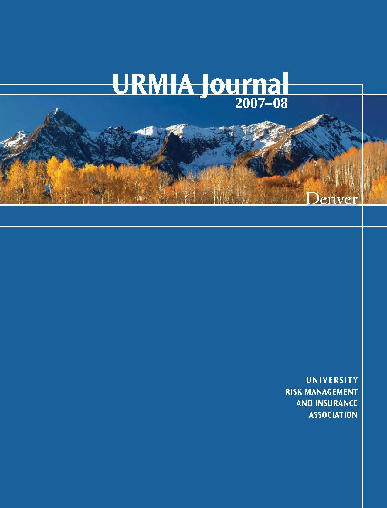 2007 URMIA Journal