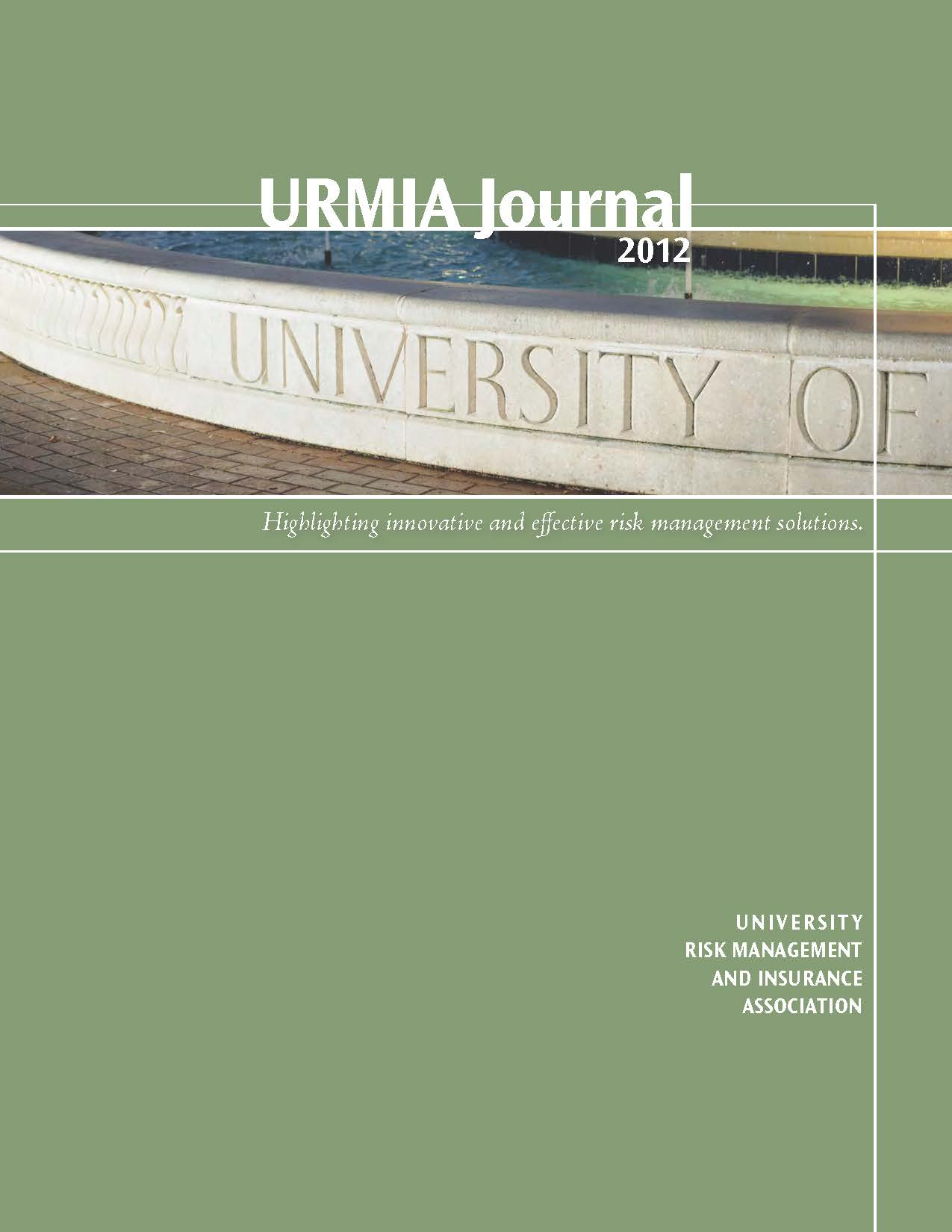 2012 URMIA Journal