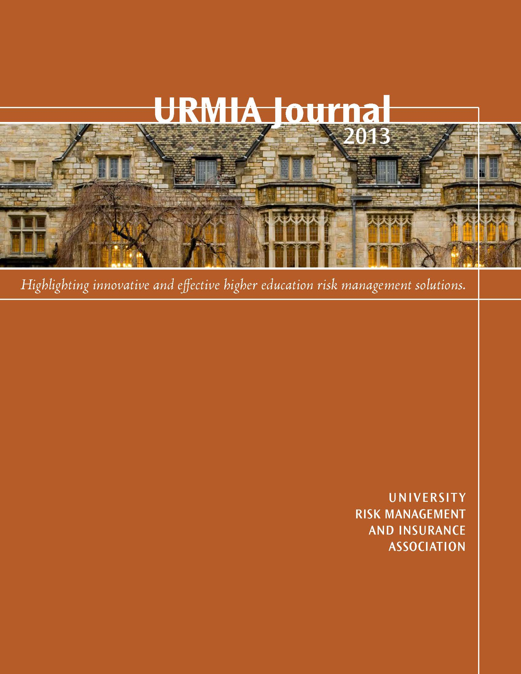 2013 URMIA Journal