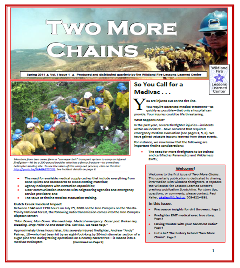 Cover of Two More Chains Spring 2011