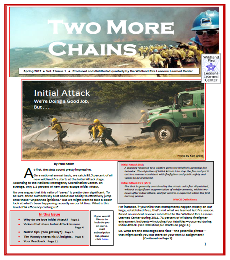 Cover of Two More Chains Spring 2012