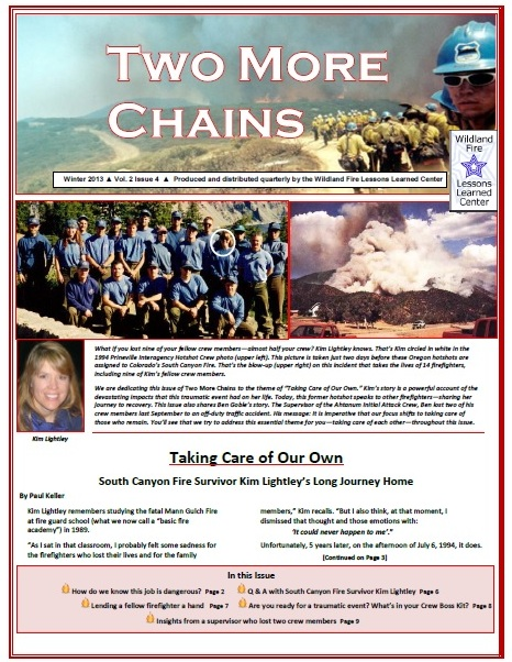 Cover of Two More Chains Winter 2013