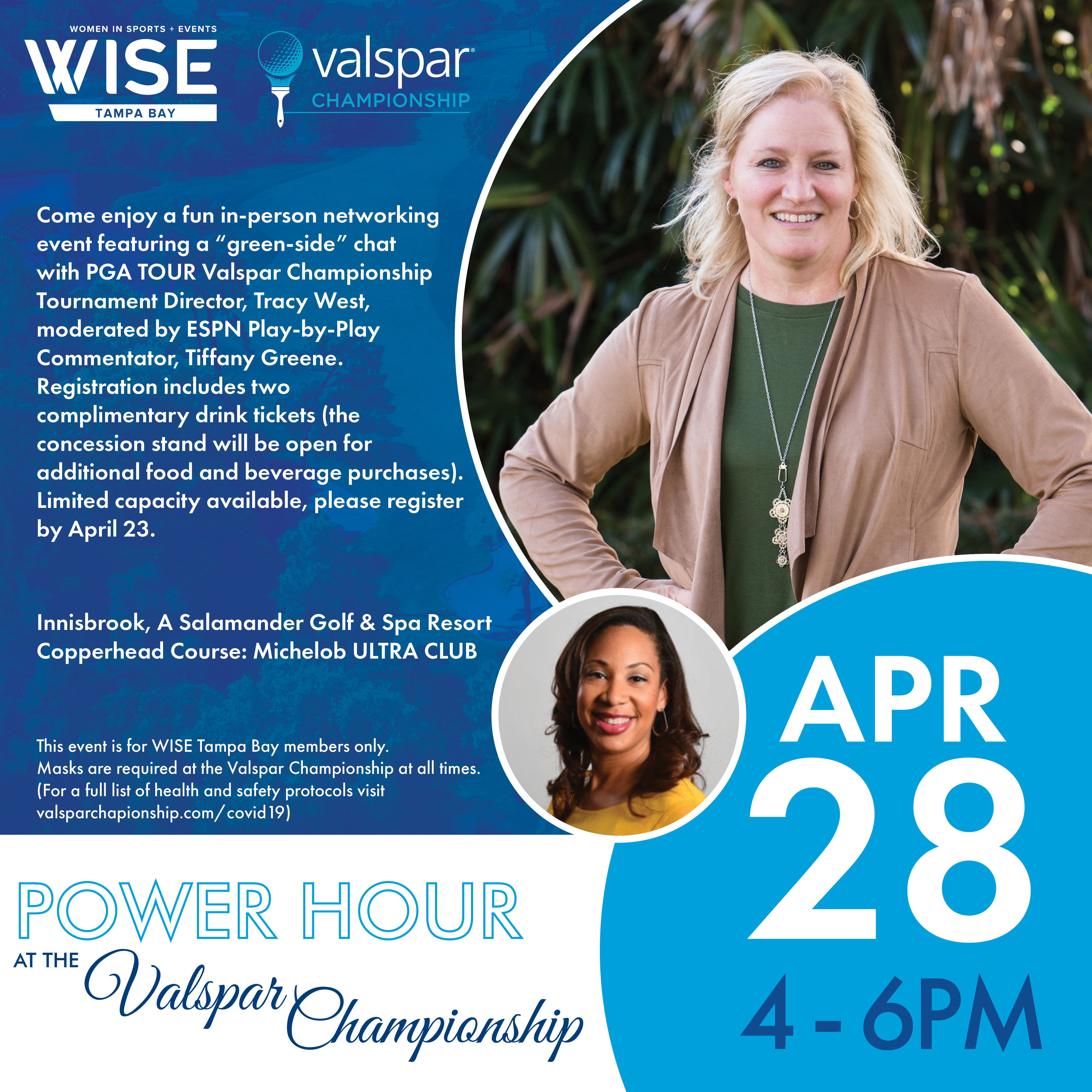 Image of WISE Tampa Bay Power Hour at the Valspar Championship