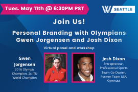 Image of WISE Seattle: Personal Branding with Gwen Jorgensen and Josh Dixon